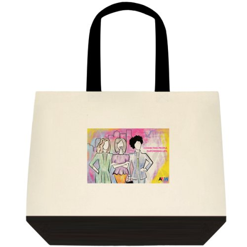 "Two toned cotton tote bag with ""Maven's United"" artwork printed."